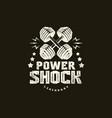 power shock training sport emblem vector image vector image