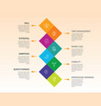 productivity infographics design timeline concept vector image vector image