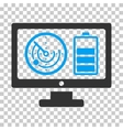 Radar Battery Control Monitor Icon vector image vector image