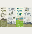 renewable energy concept of greening and pollution vector image vector image