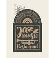 restaurant with jazz vector image vector image