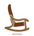 rocking chair icon different color vector image vector image
