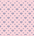 romantic seamless pattern small outline hearts vector image