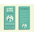Save water conference flyer invitation template vector image vector image
