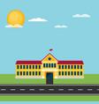 school flat vector image vector image