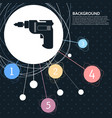 screwdriver power drill icon with the background vector image