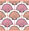 sea shells vintage seamless pattern marine vector image vector image
