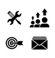 seo optimization simple related icons vector image