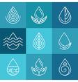 set water symbols and signs vector image vector image
