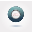 shiny button with metallic elements design vector image vector image