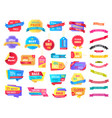 shopping sales icons and ribbons holiday off vector image vector image