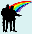 silhouettes of homosexuals vector image vector image