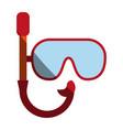 snorkel mask icon image vector image vector image