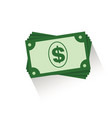 stacks of dollars icon isolated on vector image