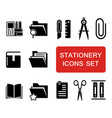 stationery icon set vector image