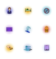 Staying in hotel icons set pop-art style vector image vector image