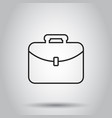 suitcase box icon in line style on isolated vector image