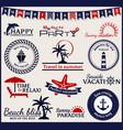 summer and sea labels symbols and emblems design vector image