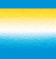 summer yellow blue white triangular background vector image vector image