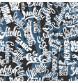 surf pattern hand drawn lettering shirt print vector image