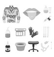 tattoo drawing on the body monochrome icons in vector image vector image