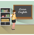 teacher with board learn english vector image vector image