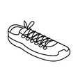 tennis shoe isolated icon vector image vector image