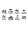 Travel journey set icons Handwritten lettering vector image vector image
