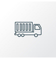 truck icon line symbol premium quality isolated vector image