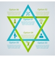 Two triangles infographic vector image vector image