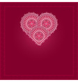 valentines day card with patterned heart vector image vector image