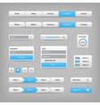 Web site elements with blue buttons navigation on vector image vector image