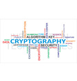 word cloud cryptography vector image vector image