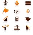 money and finance icons vector image