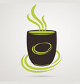coffee cup or tea on white background vector image