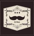 Hipster retro mustache vector image