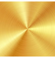 background with polished brushed gold surface vector image