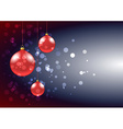 Christmas baubles card vector image