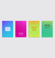 a collection colorful covers lines and shapes vector image vector image