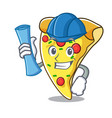 architect pizza slice character cartoon vector image vector image