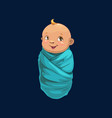 baby boy in blue wrap isolated newborn child icon