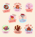 bakery desserts cakes and ice cream vector image vector image