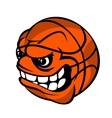 basketball cartoon ball vector image