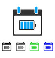 battery calendar day flat icon vector image vector image