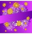Beautiful color floral design card