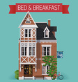 Bed and Breakfast Flat Design vector image vector image