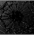 broken glass black explosion vector image vector image