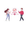 cartoon social distance concept vector image