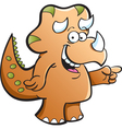 Cartoon Triceratops vector image vector image