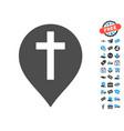 christian cross marker icon with free bonus vector image vector image